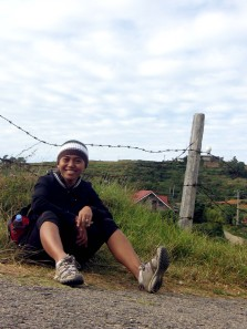 Resting at the peak of Mt. Sto. Tomas